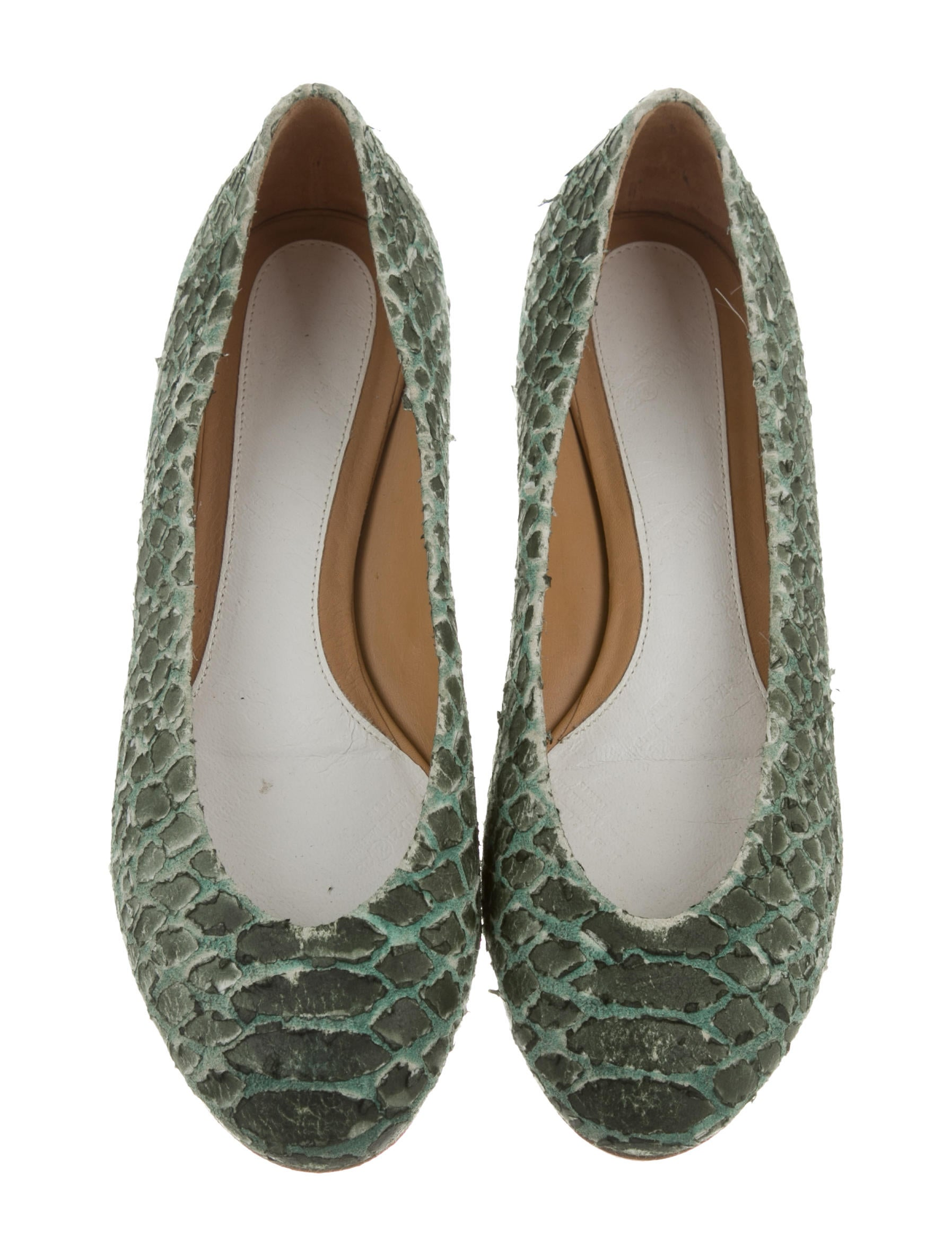 Maison Margiela Textured Round-Toe Flats fake cheap price with paypal cheap price sale reliable discount really cheap sale great deals pGDR0