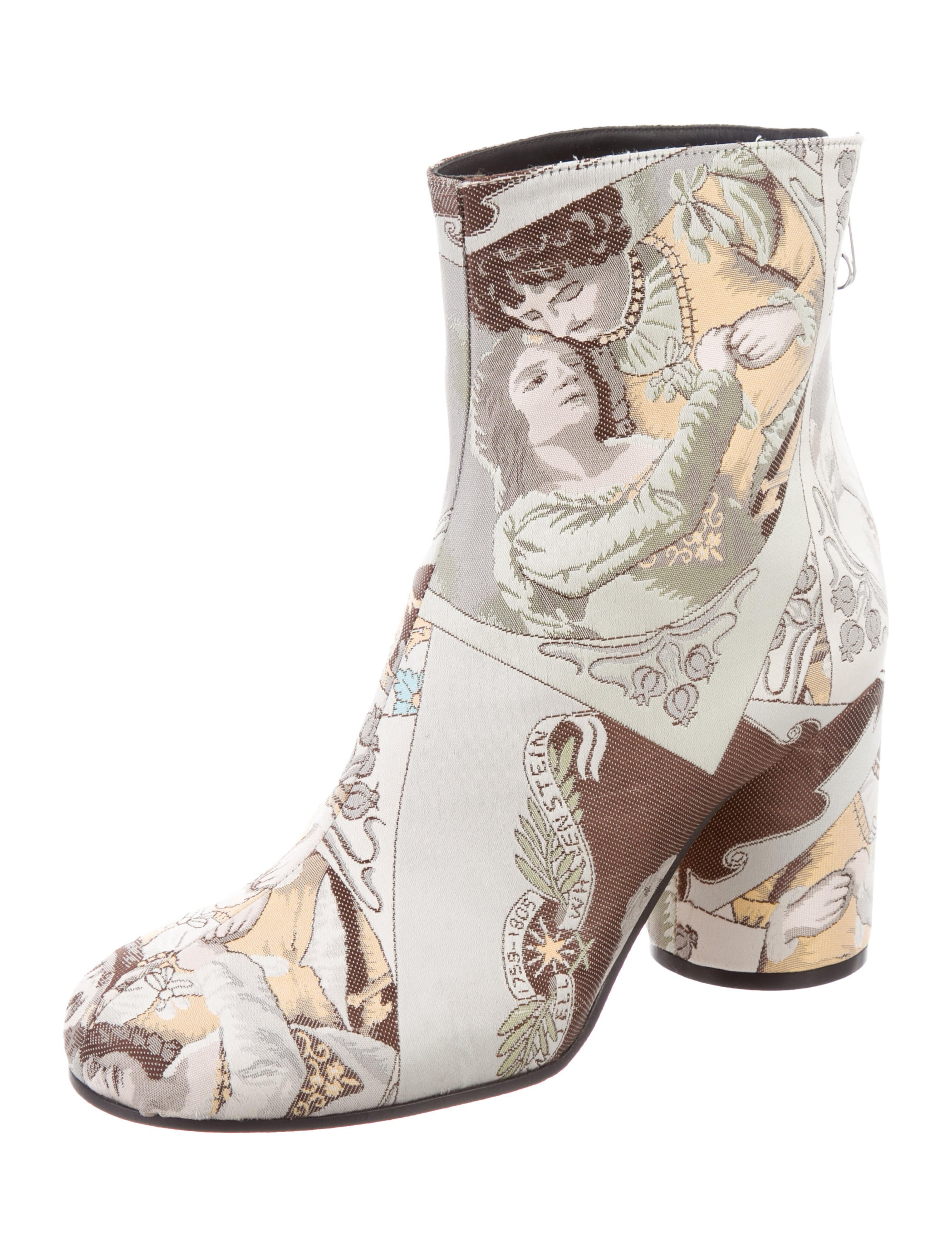 2014 new cheap online discount latest collections Maison Margiela Satin Printed Ankle Boots w/ Tags buy cheap new styles newest cheap online limited edition cheap online LOZpv36