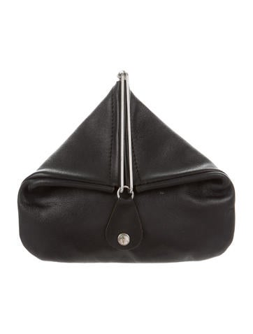 Grained Leather Origami Pouch