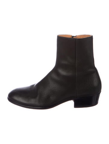 Maison Margiela Leather Ankle Boots by Maison Margiela