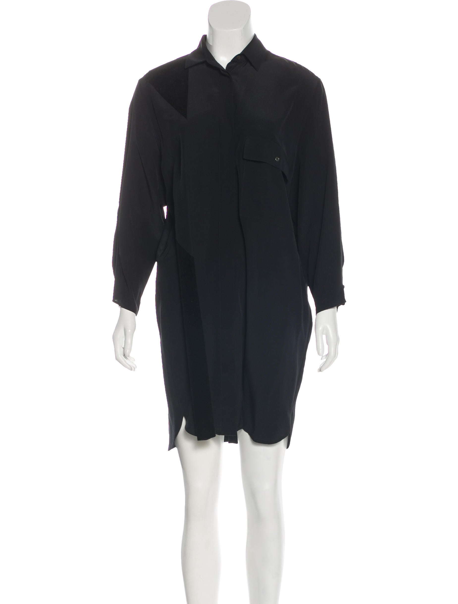 8b38a2dbf56 Black Silk Shirt Dress – EDGE Engineering and Consulting Limited