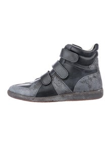 e0ff441a919c6 Maison Margiela. Leather Replica High-Top Sneakers. Size  US 10
