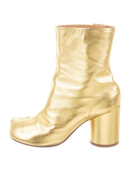 Maison Margiela Tabi Ankle Boots Gold