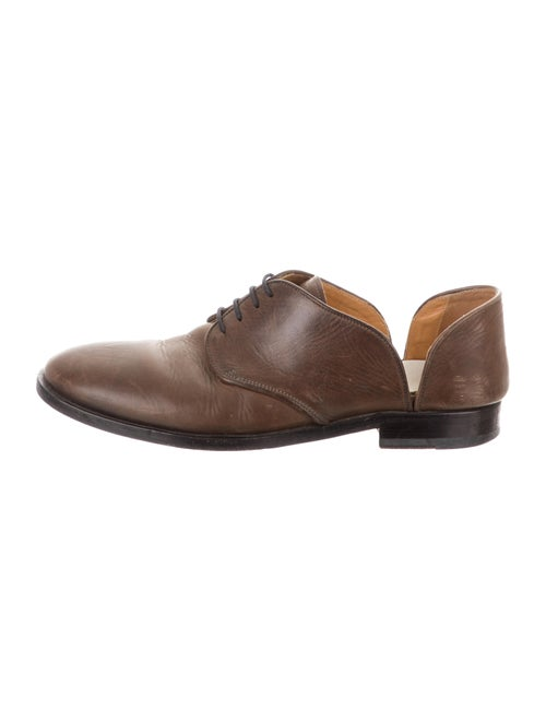 Maison Margiela Leather Derby Shoes brown