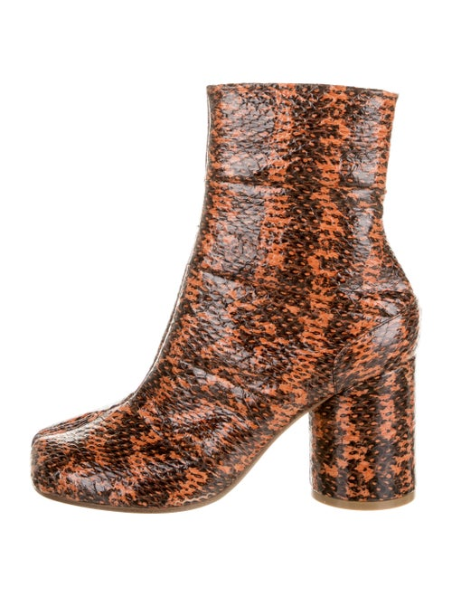 Maison Margiela Python Tabi Boots Orange