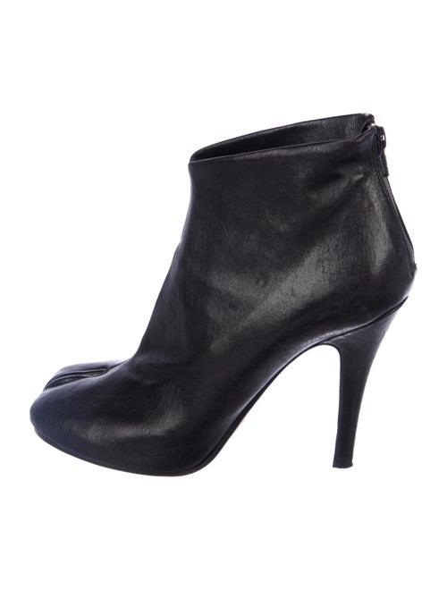 Maison Margiela Leather Round-Toes Boots Black