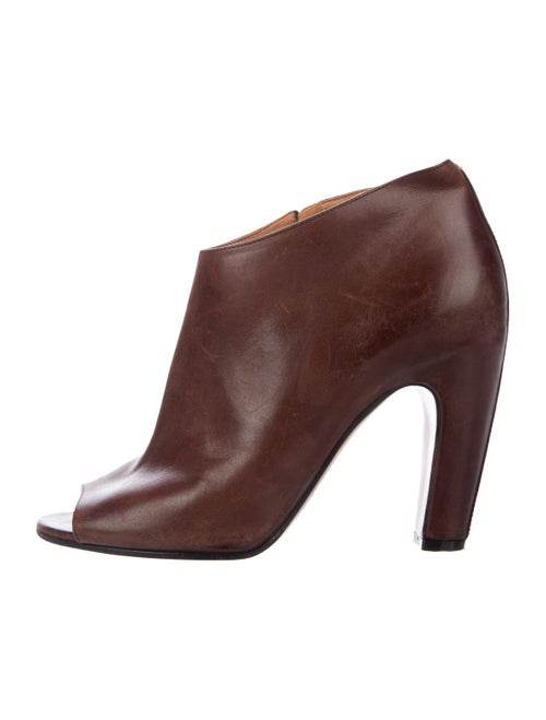 Maison Margiela Leather Ankle Boots Brown