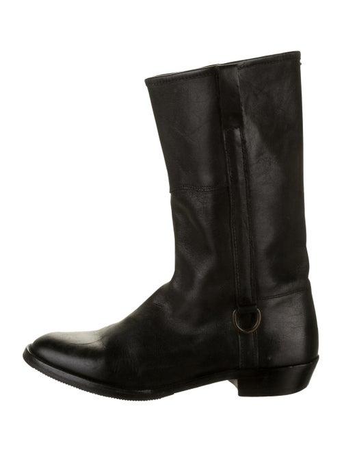 Maison Margiela Mid-Calf Boots Leather Moto Boots