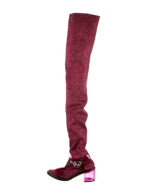 Maison Margiela Round-Toes Sock Boots Pink