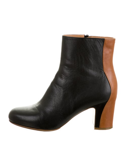 Maison Margiela Leather Colorblock Pattern Boots B