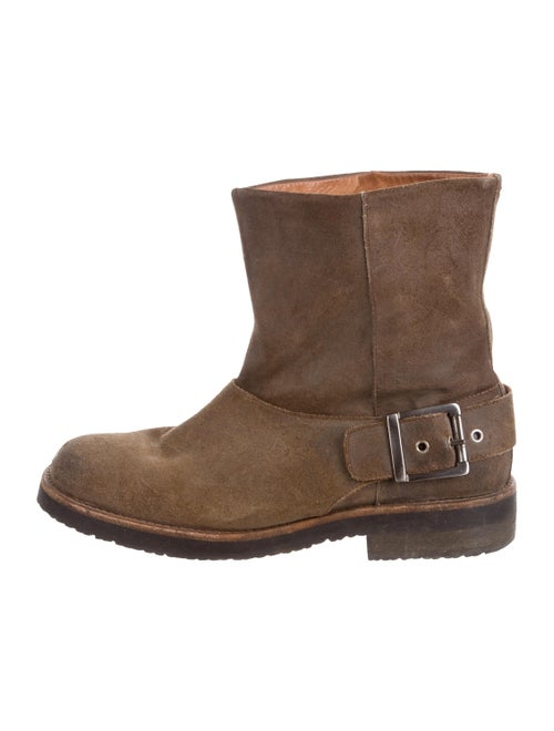 Maison Margiela Suede Ankle Boots Brown