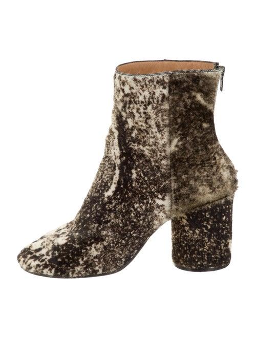 Maison Margiela Print Ponyhair Ankle Boots