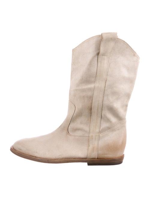 Maison Margiela Leather Cowboy Boots tan