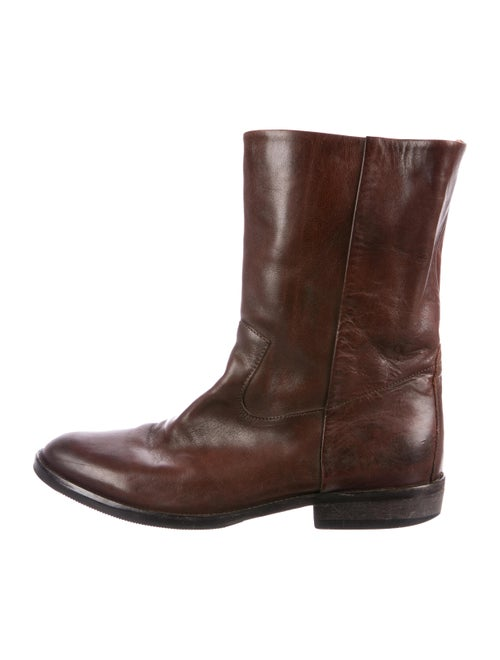 Maison Margiela Leather Cowboy Boots brown