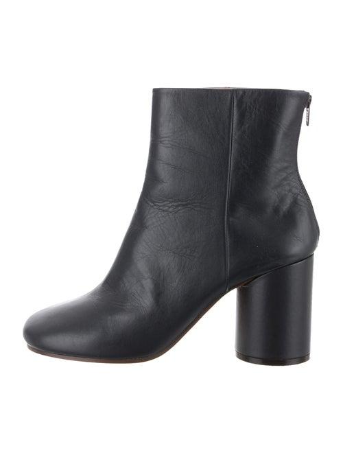Maison Margiela Leather Round-Toe Boots Blue