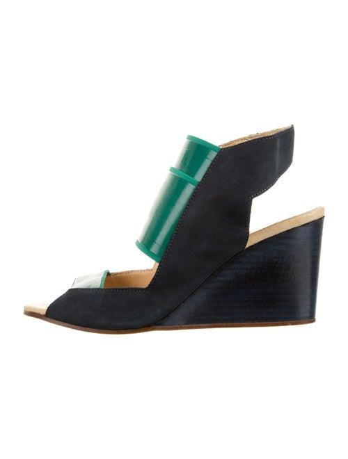 Maison Margiela Open-Toe Wedge Sandals Blue