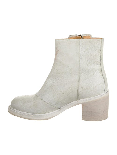 Maison Margiela Leather Boots White