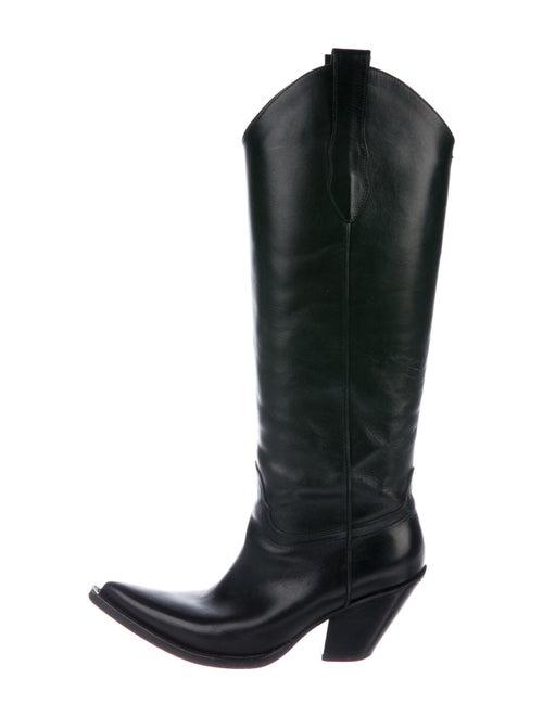 Maison Margiela Leather Western Boots Black