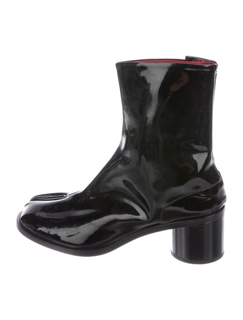 Maison Margiela Tabi Patent Leather Boots Black