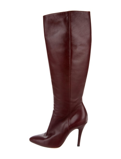 Maison Margiela Leather Boots Red