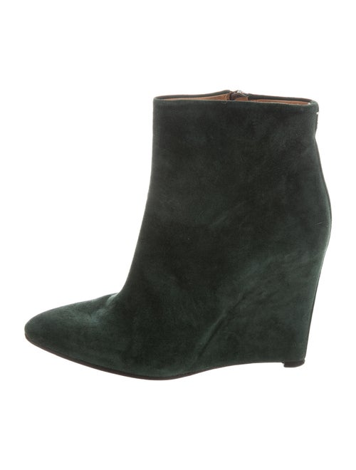 Maison Margiela Suede Boots Green