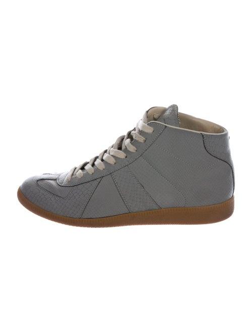 Maison Margiela Embossed Reflective Sneakers Grey