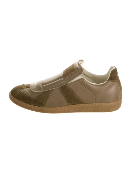Maison Margiela Leather Printed Sneakers Brown