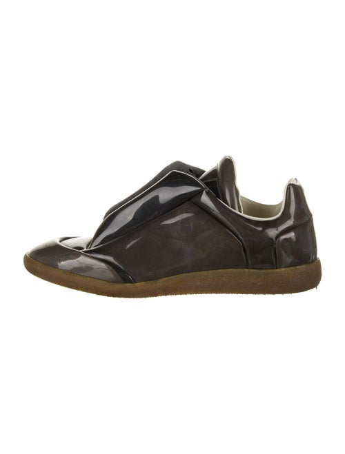 Maison Margiela Patent Leather Sneakers Grey