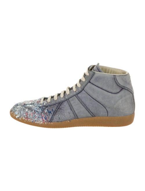 Maison Margiela Leather Sneakers Grey