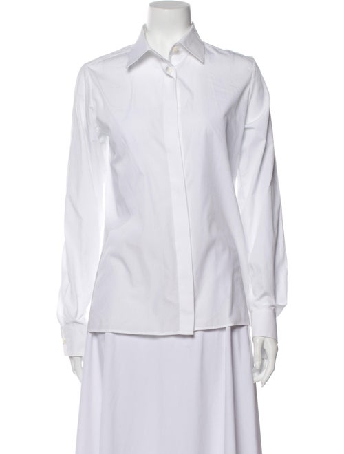 Maison Margiela Long Sleeve Button-Up Top White