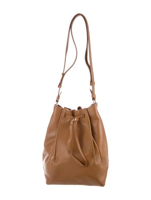 Maison Margiela Leather Bucket Shoulder Bag Brown