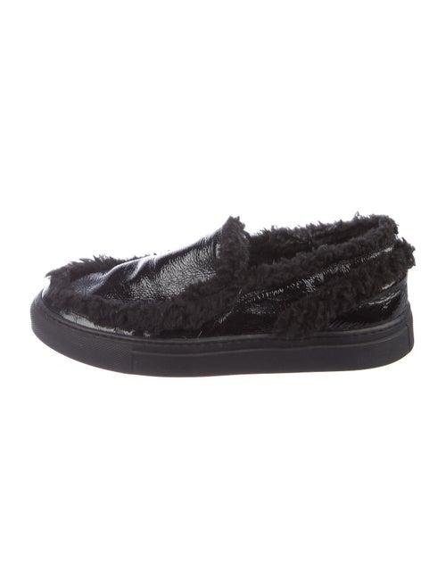 Maison Margiela Patent Leather Sneakers Black