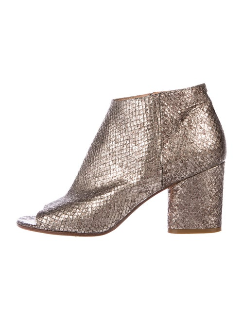 Maison Margiela Snakeskin Boots Metallic