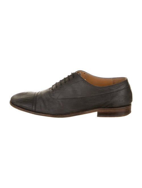Maison Margiela Leather Derby Shoes Black