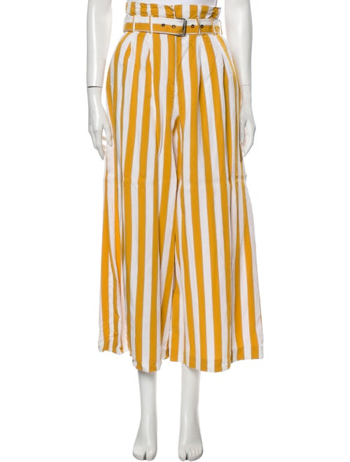 Maison Margiela Striped Wide Leg Pants Yellow