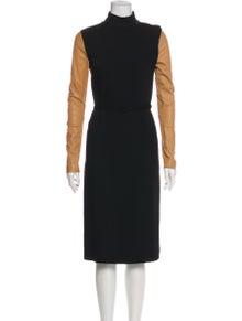Maison Margiela Turtleneck Midi Length Dress