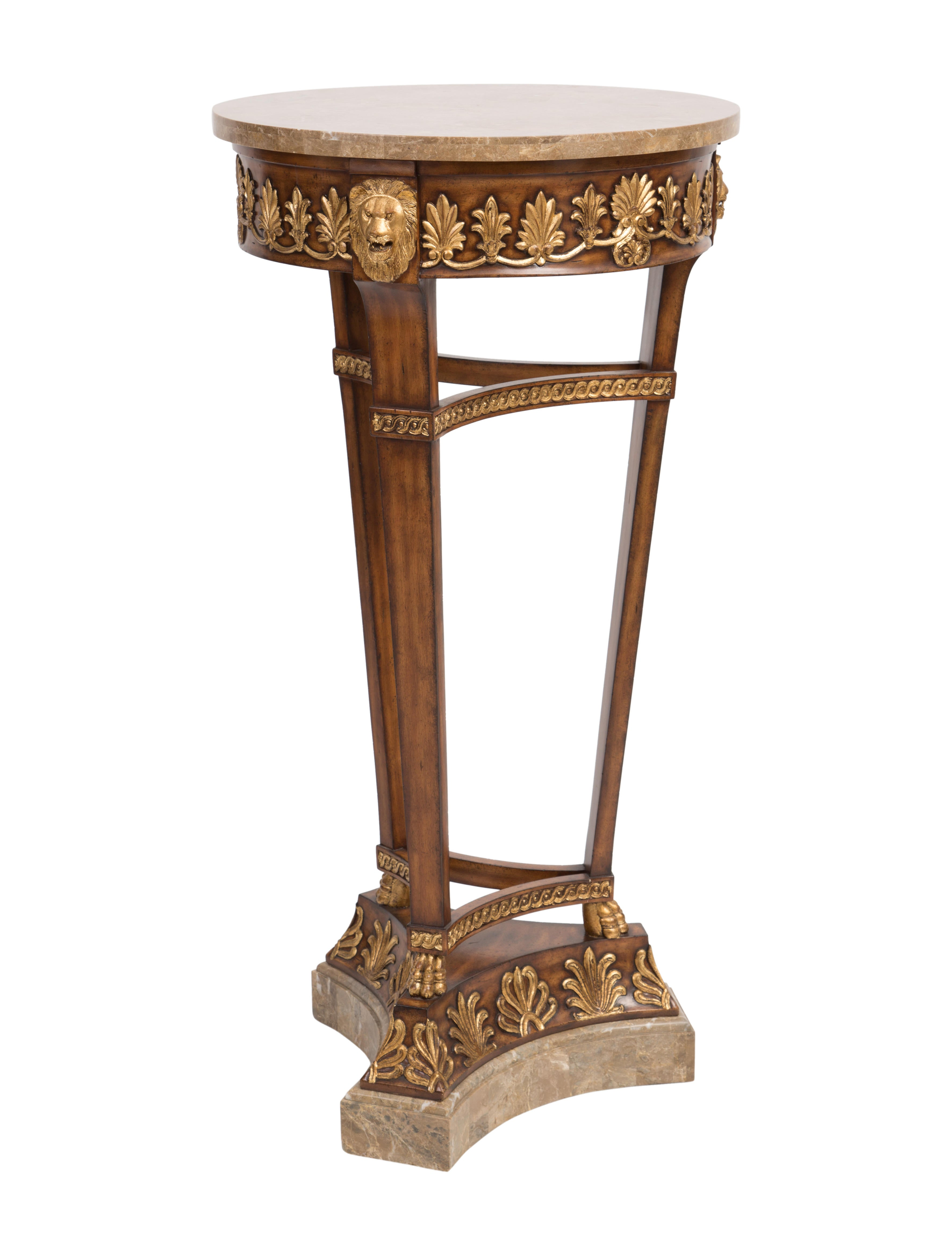 Maitland Smith Empire Style Pedestal Table Furniture