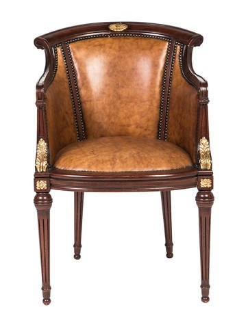 Maitland Smith Leather Armchair Furniture Maits20025 The Realreal