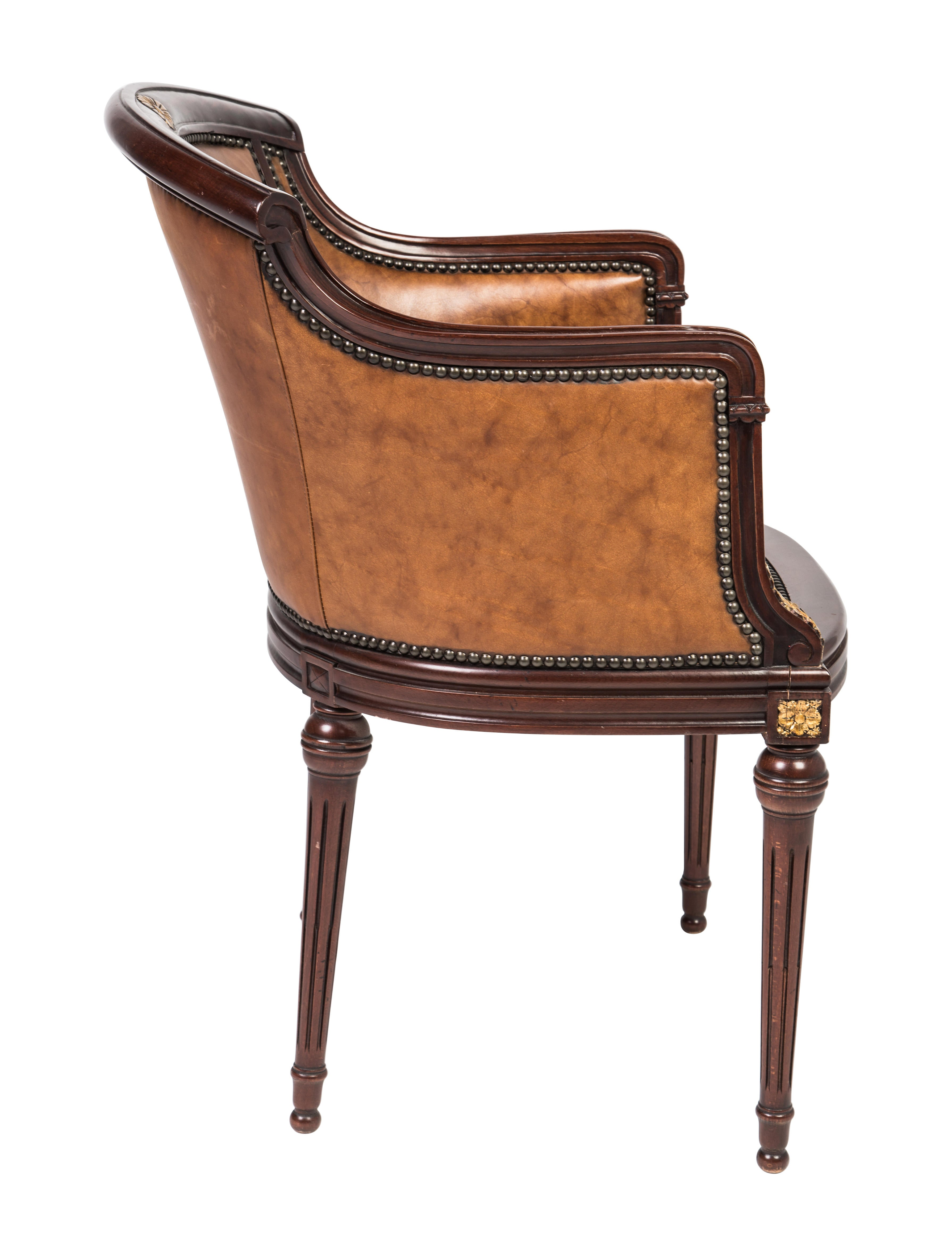 Maitland Smith Leather Armchair Furniture Maits20026 The Realreal