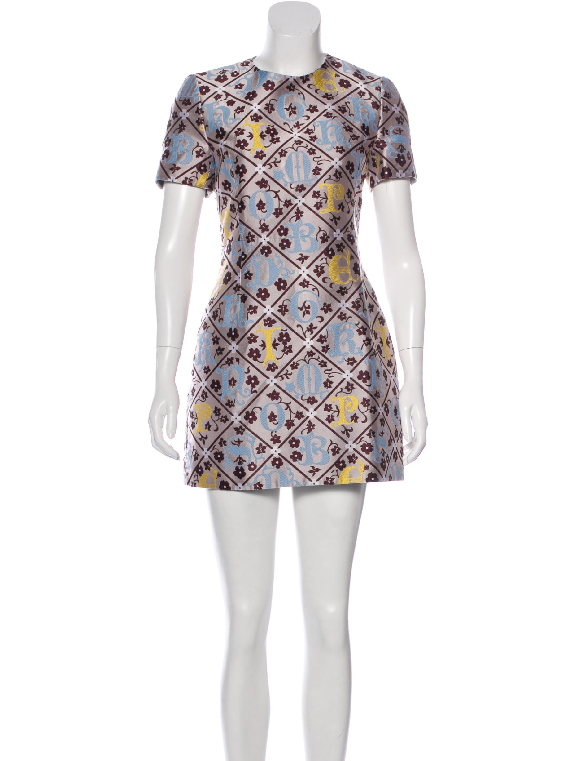 Not Clothing But Makeup Is Just As Important To Finish A: Mary Katrantzou Resort 2015 Forget Me Not Dress