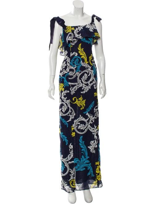 Mary Katrantzou Printed Maxi Dress Navy