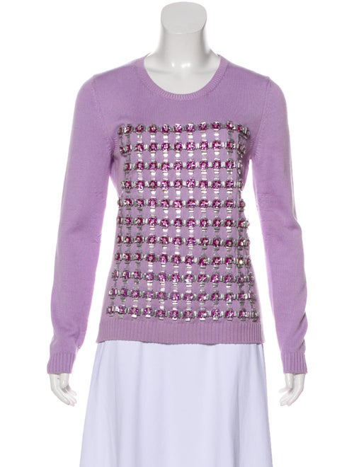 Mary Katrantzou Embroidered Knit Sweater