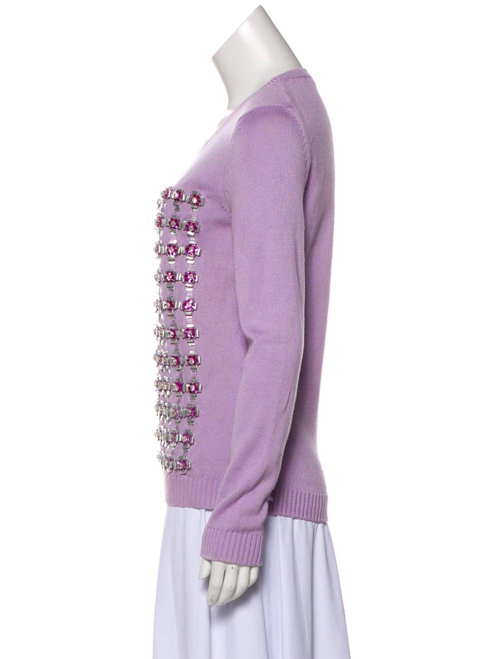 Mary Katrantzou Embroidered Knit Sweater - image 2