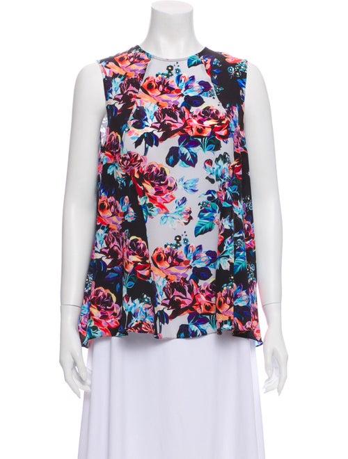 Mary Katrantzou Silk Floral Print Blouse White