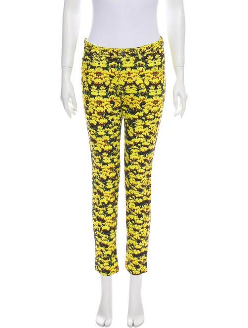 Mary Katrantzou Mid-Rise Skinny Leg Jeans Yellow