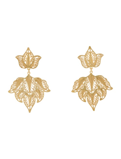 Mallarino Emma Drop Earrings silver