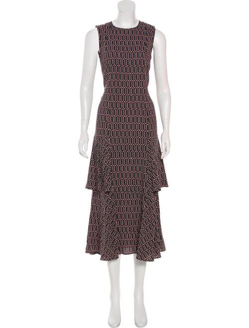 Marni Printed Maxi Dress multicolor
