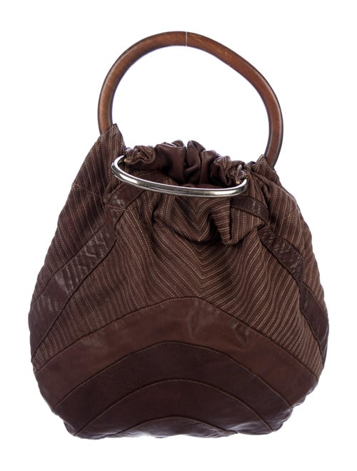 Marni Patchwork Leather Hobo Brown