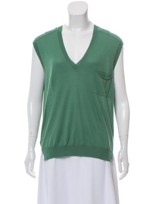 Marni Cashmere Knit Vest Green