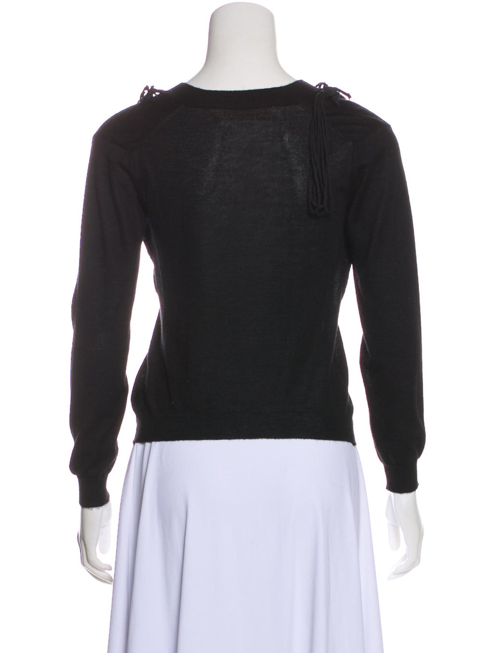 Marni Cashmere Embroidered Sweater Black - image 3